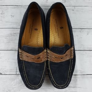 Martin Dingman Countrywear Suede Penny Loafers